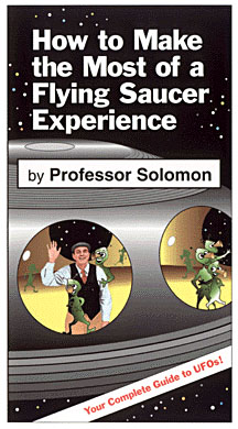 Book cover showing the Professor aboard a UFO